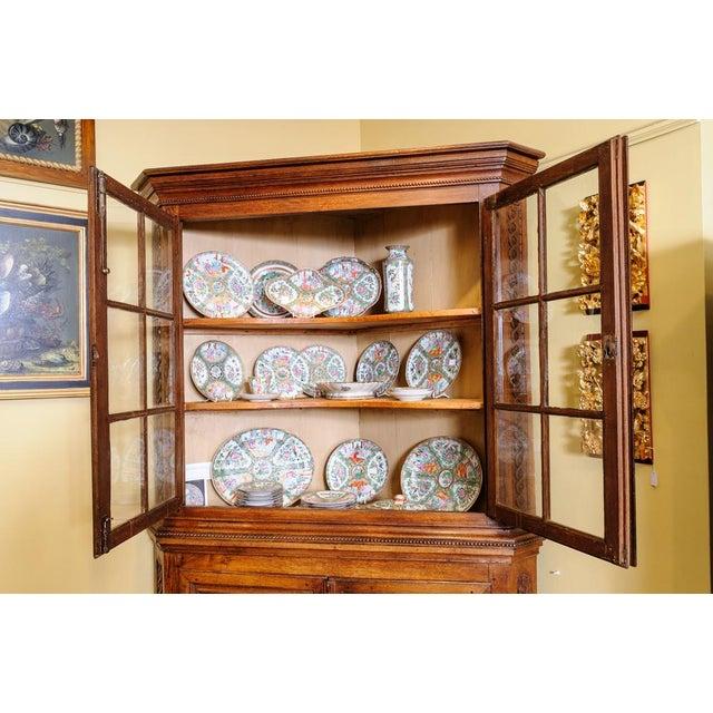 Antique Oak Corner cabinet For Sale - Image 9 of 10