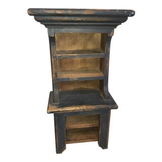 Farmhouse Teal Wood Shelf For Sale