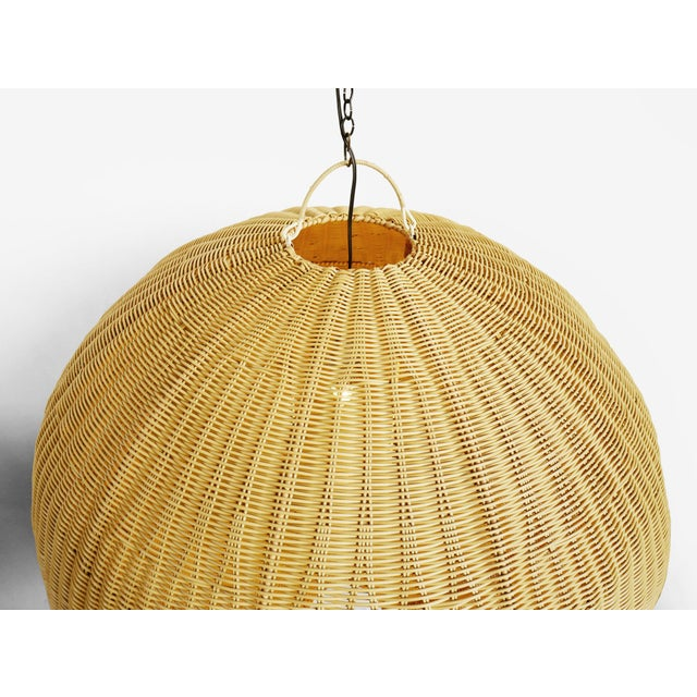 Contemporary Faux Rattan Globe Lantern XL For Sale - Image 3 of 6