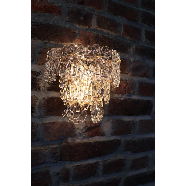 1970s Germany Kinkeldey Starburst Wall Sconces Crystals on Gilt-Brass - a Pair For Sale - Image 10 of 13