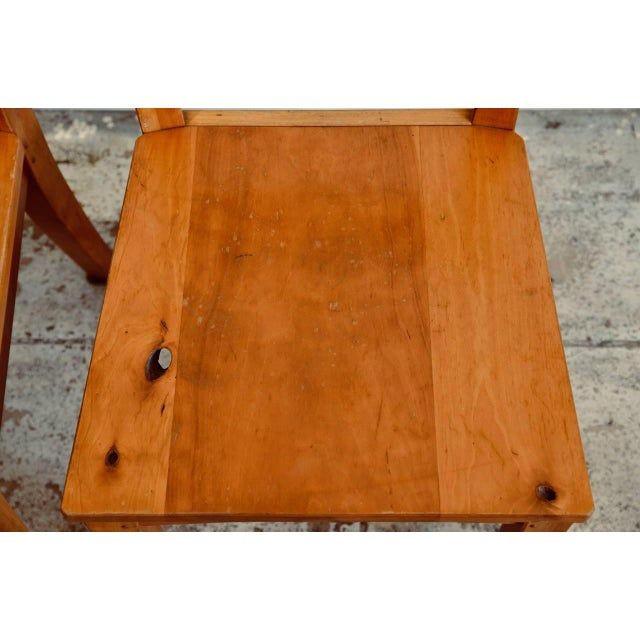 1990s Vintage Woodworker Studio Chairs- A Pair For Sale - Image 10 of 12