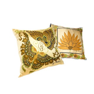 1950s Vintage Signed Silk Jim Thompson Pillows - A Pair For Sale