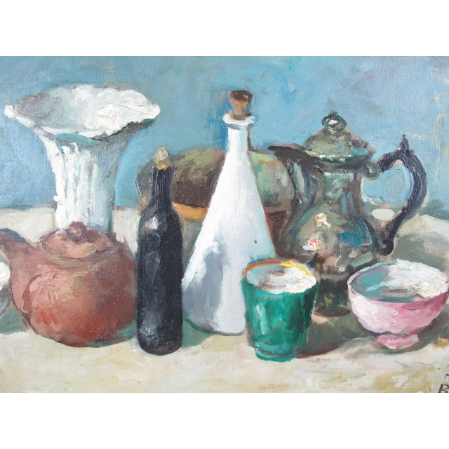 Modern Vintage Mid-Century Mario Bucci Still Life Painting For Sale - Image 3 of 7