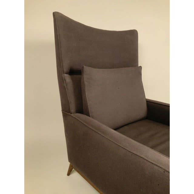 Directional 1950s Paul McCobb for Directional High Back Lounge Chair and Ottoman For Sale - Image 4 of 10