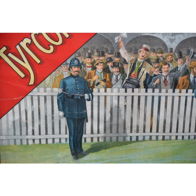 1001 to 1 Tyrconnell Wins! Victorian Whiskey Poster C.1900 For Sale In San Francisco - Image 6 of 12
