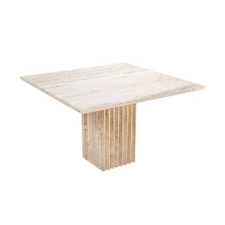 Travertine Dining Table Carlo Scarpa For Sale