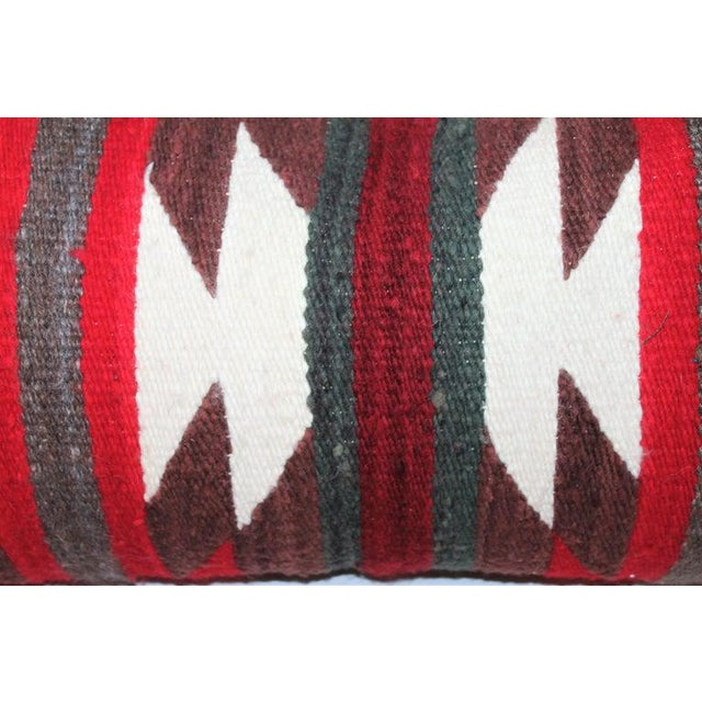 Cotton Navajo Indian Saddle Blanket Pillows - Set of 3 For Sale - Image 7 of 11