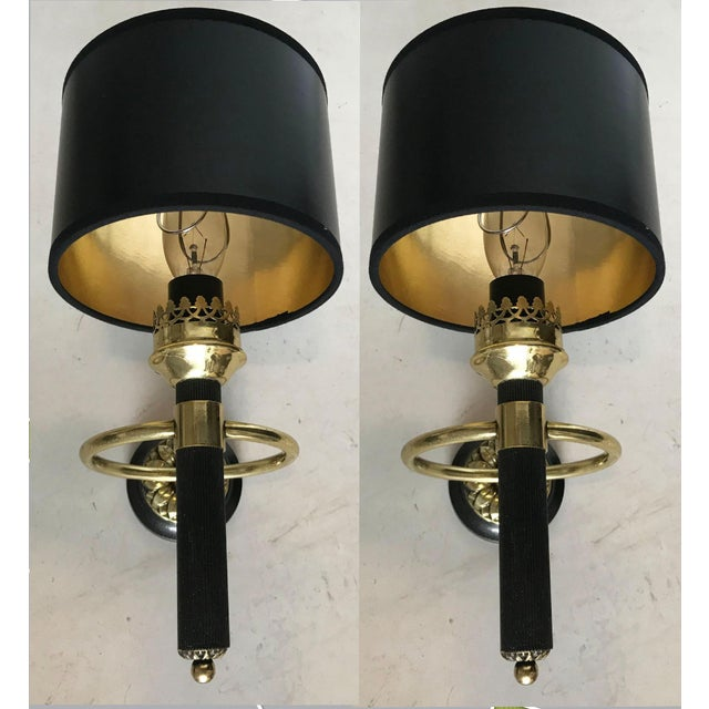 Maison Jansen 1 Arm Sconces - a Pair For Sale In Miami - Image 6 of 6