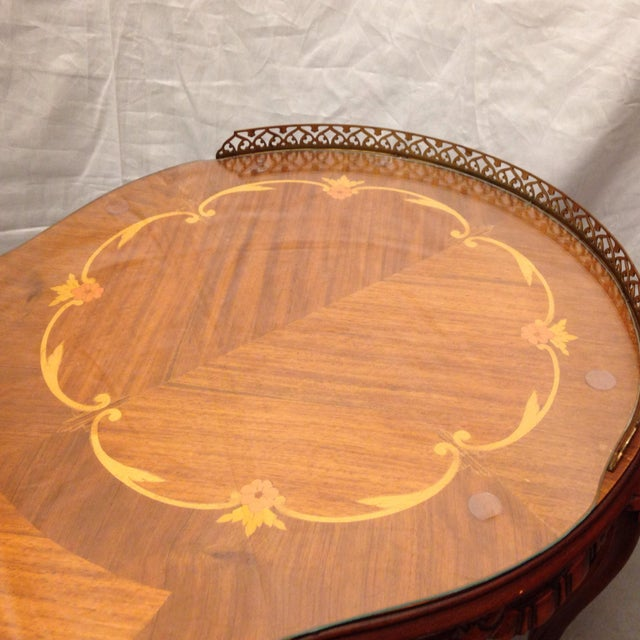 Antique Coffee Tables Ireland: Antique Italian Inlaid Coffee Table With Brass Edges