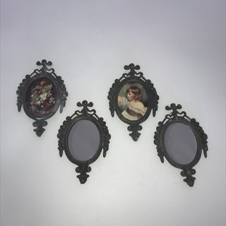 1970s Vintage Small Italian Frames 2 Mirrors and 2 Prints - Set of 4 Preview