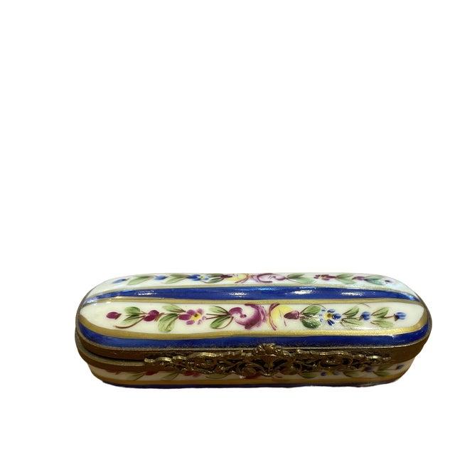 1950s Limoges France Porcelain Box For Sale