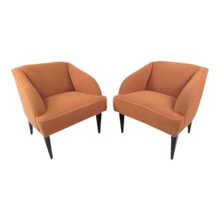 Vintage Modern Club Chairs - a Pair