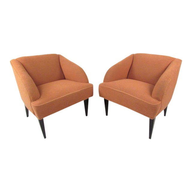 Vintage Modern Club Chairs - a Pair For Sale