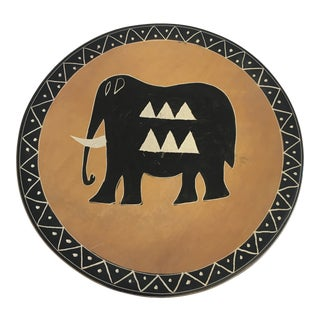 Soapstone Round Elephant Plate For Sale