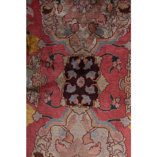 Agra Carpet in Wool & Silk For Sale - Image 10 of 11