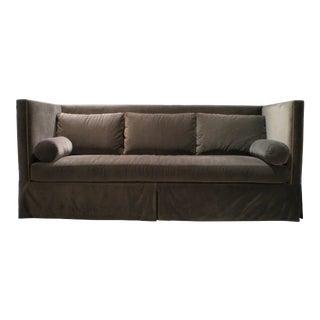 Bradley Geoffery Bronze Velvet Shelter Sofa