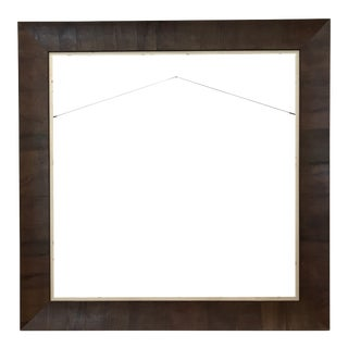 Italian Wooden Picture Frame With Wood Veneer For Sale