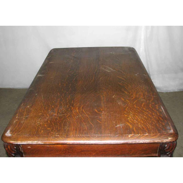 Antique Tiger Oak Table with Cabriole Legs For Sale - Image 9 of 10