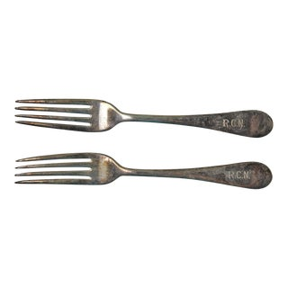 Vintage Royal Canadian Navy Mess Forks - A Pair