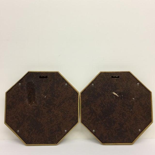 Mid-Century Modern Bird Prints Hexagon Framed - A Pair - Image 7 of 9