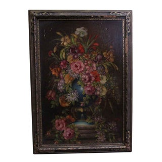 20th Century Traditional Ornately Framed Floral Oil Painting For Sale