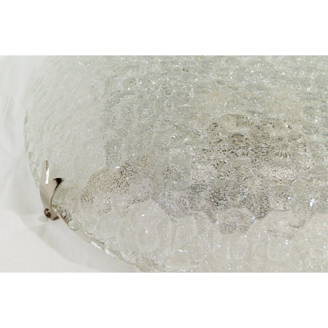 Transparent Textured Flush Mount with Chrome Hardware by Hustadt Leuchten For Sale - Image 8 of 9