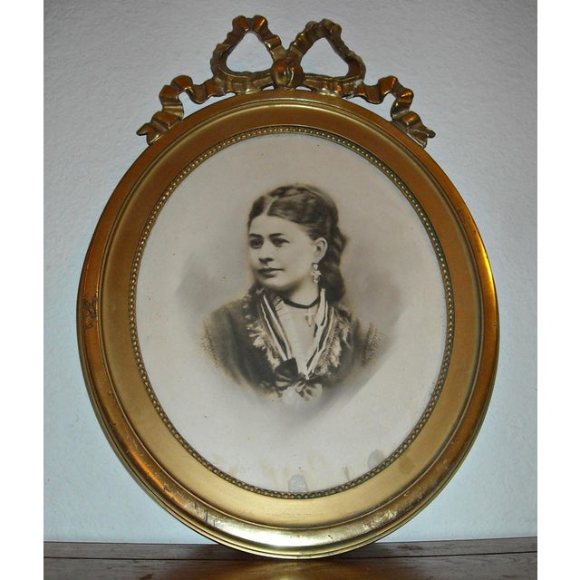 Antique Picture in Gilt Oval Frame - Image 2 of 5