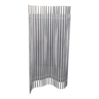Modernist Lucite and Stainless Sculpture Screen For Sale