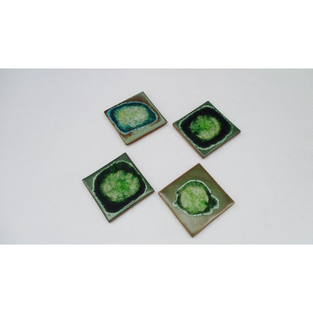 Geode Crackle Glass Coasters - Set of 4 For Sale - Image 9 of 10