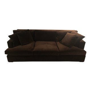 Modern Ralph Lauren Velvet Brown One Fifth Sofa For Sale