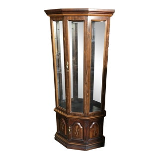 Antique Singer Curio Display Cabinet For Sale