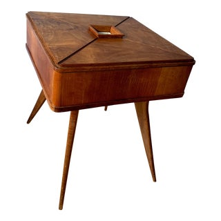 Mid-Century Modern Gio Ponti for Vittorio Lombardi Folding Top Side Table For Sale