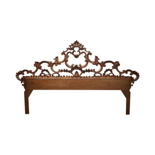 1950s Gilt Metal Gold Rococo King Size Headboard For Sale