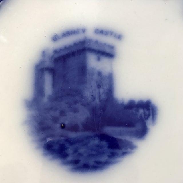 Flow Blue Tribley Semi-Porcelian Blarney Castle Plate For Sale - Image 4 of 10