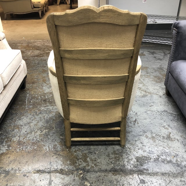 Restoration Hardware Restoration Hardware 18th C. French Upholstered Bergere Chair For Sale - Image 4 of 13