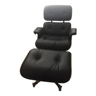 Herman Miller Eames Tall Lounge and Ottoman