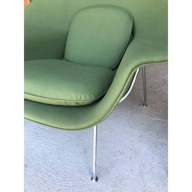 Reupholstered! Knoll Womb Chair Ottoman Eero Saarinen For Sale - Image 11 of 13