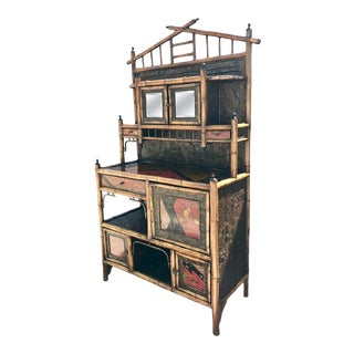 19th Century English Bamboo Side Cabinet / Buffet For Sale