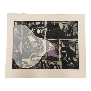 Lillianna Porter Abstract Etching Print For Sale