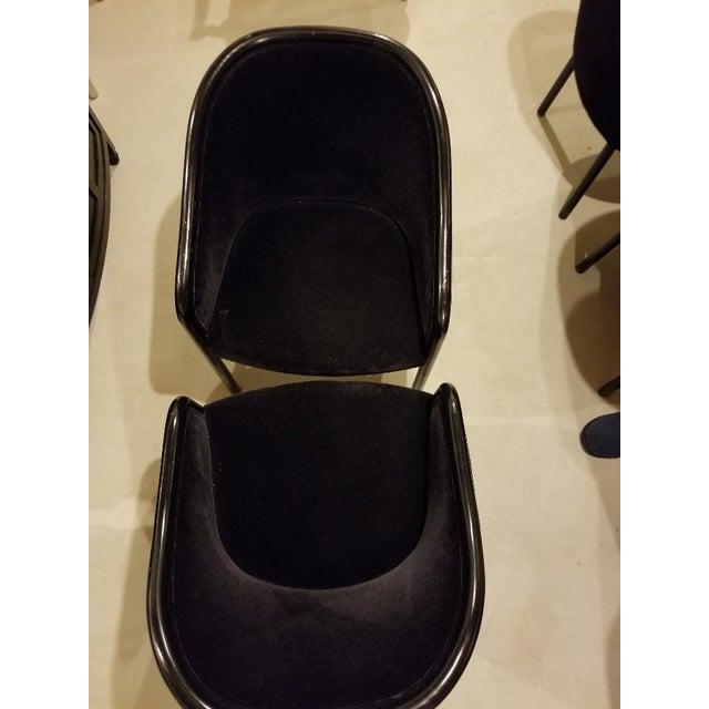 Black 1980s Vintage Ward Bennett for Brickel Associates Walnut & Velvet Mohair Chairs - Set of 10 For Sale - Image 8 of 13
