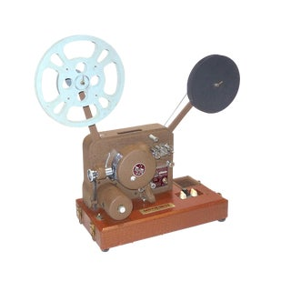 Circa 1940's Sound and Picture Movie Projector. Art Deco Design. All Original 16mm Artifact For Sale