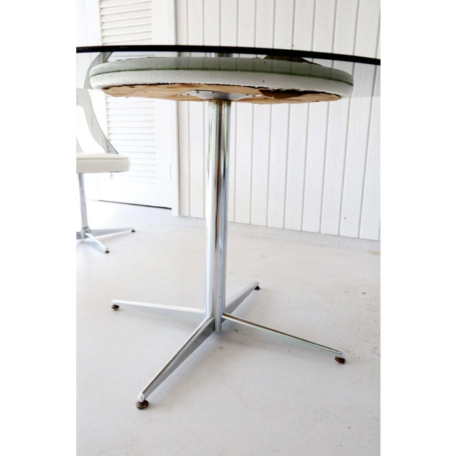 1970s 1970's Space Age Modern Smoked Lucite and Chrome Dining Set - 5 Pieces For Sale - Image 5 of 13