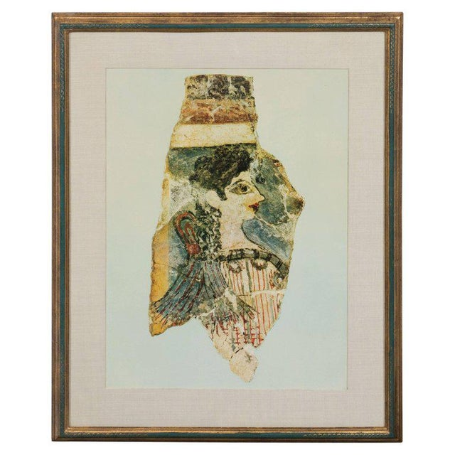 Modernist Print of a Greek Antiquities Pottery Fragment in Custom Gallery Frame For Sale - Image 10 of 10