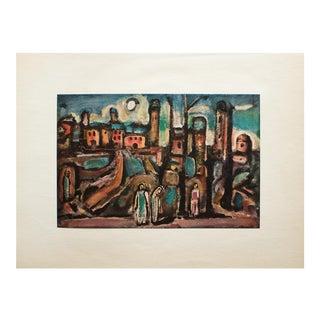 "1950s Georges Rouault, ""The Humane Landscape"" Original Period Lithograph For Sale"