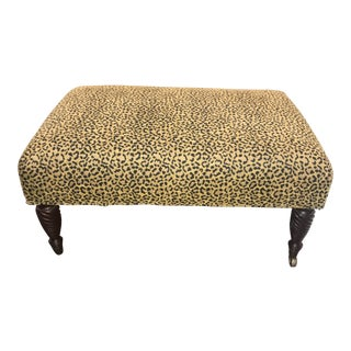 Animal Print Rolling Bench by Edward Ferrell, Ltd. For Sale