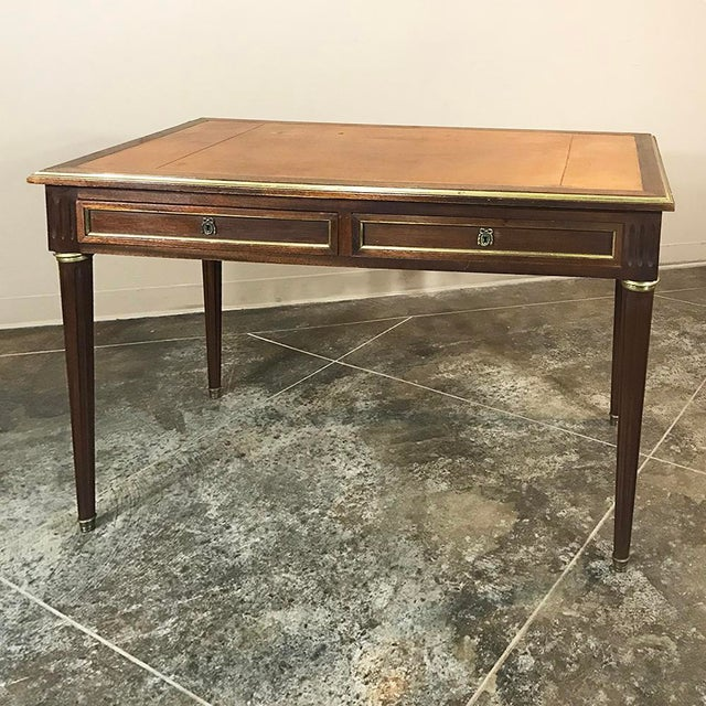 19th Century French Louis XVI Leather Top Desk For Sale - Image 13 of 13