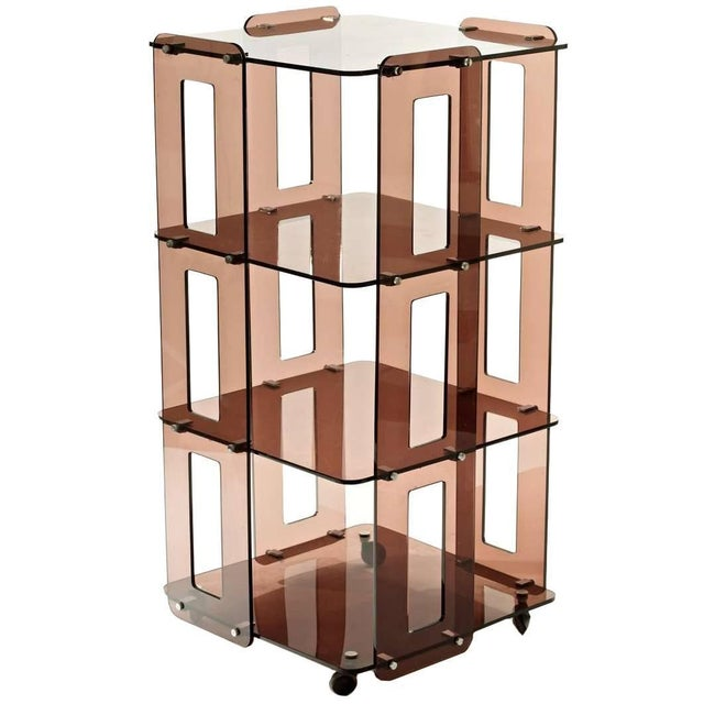 Auburn 1970s French Lucite Bookcase in the Manner of Boris Tabacoff For Sale - Image 8 of 8