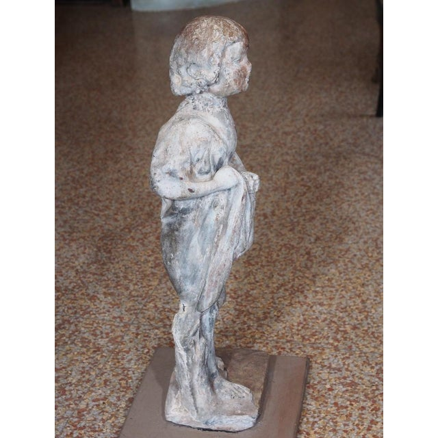 French 19th Century French Lead Statue of a Young Girl For Sale - Image 3 of 7