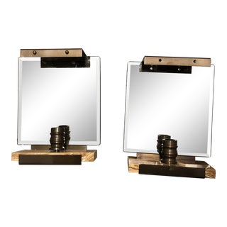 Baker Mirrored Sconces - a Pair For Sale