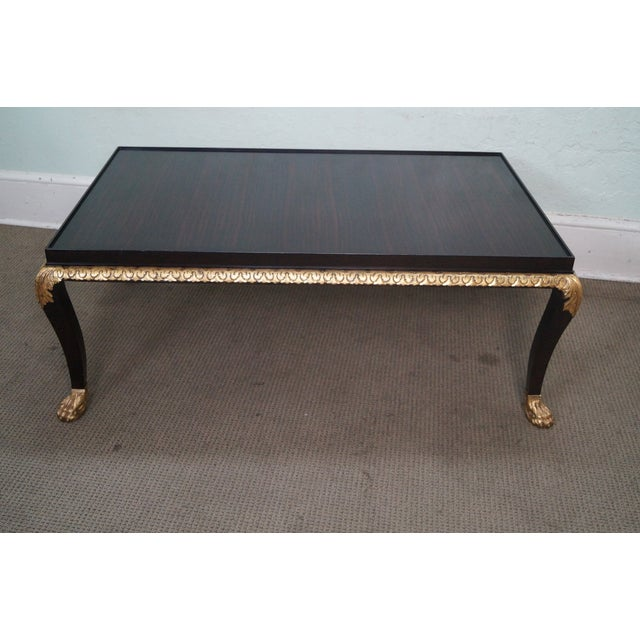 Baker Stately Homes Collection large regency cocktail coffee table, approx. 20 years old. High quality, American made,...